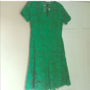 Ellie Tahari Emerald Green Lace Dress